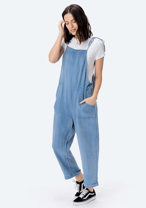 Spencer Washed Linen Overall