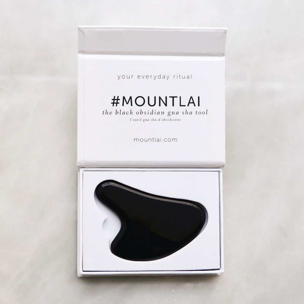 MOUNT LAI - BLACK OBSIDIAN GUA SHA MASSAGE TOOL