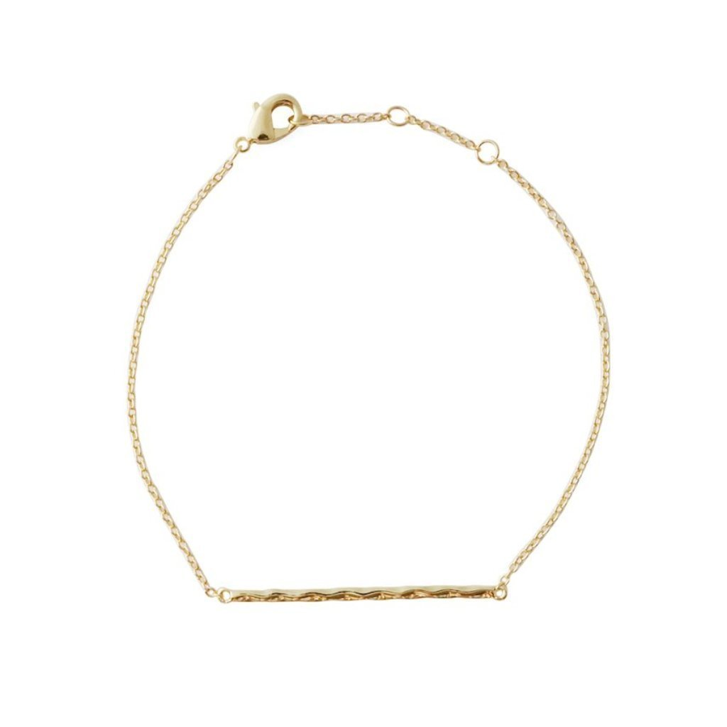 HoneyCat Hammered Classic Bar Bracelet