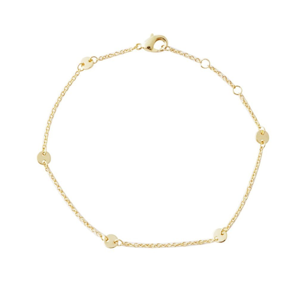 HoneyCat Milky Way Disc Chain Bracelet