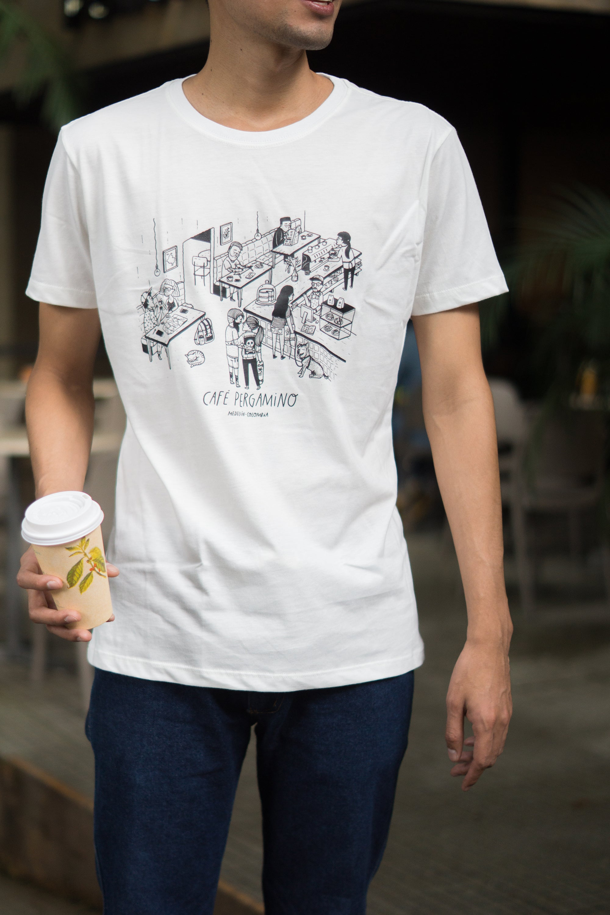 PERGAMINO Coffee Shop T-shirt