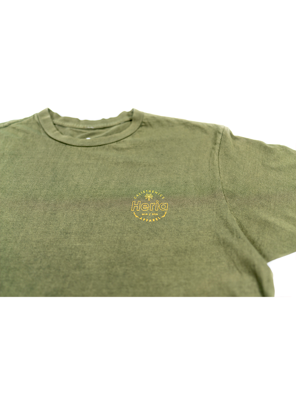 Acid Wash Olive T-Shirt