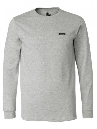 Black on Athletic Grey Long Sleeve