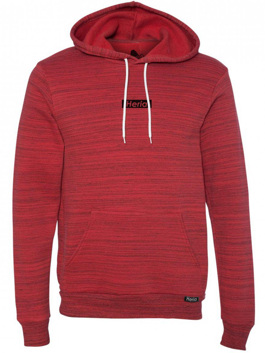 <i><strong>Heria</strong></i> | Black on Red Hoodie