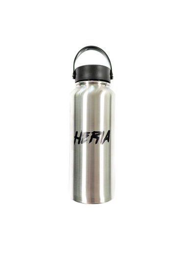 Heria Water Bottle - Metal Silver