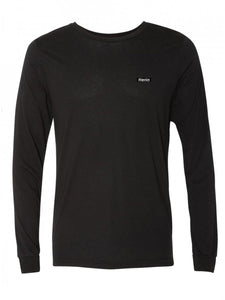 Patch on Solid Black Long Sleeve