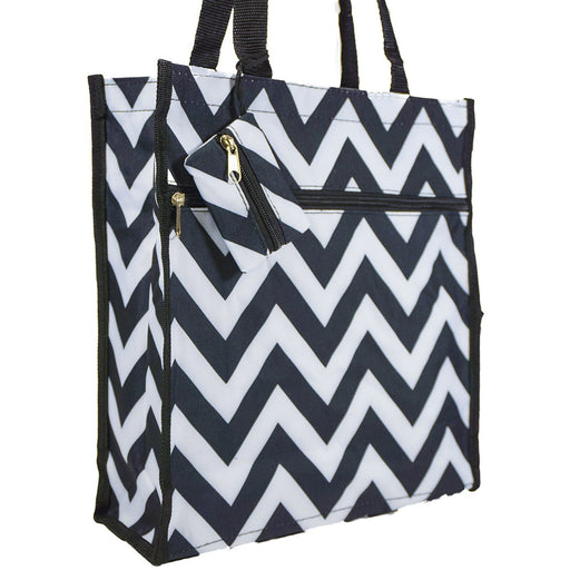 Black Chevron Tote Bag - jenzys.com