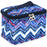 Jenzys Chevron Cosmetic Makeup Case - jenzys.com