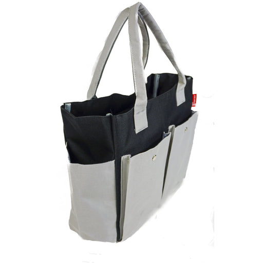 Grey Black Multi Functional Diaper Bag - jenzys.com