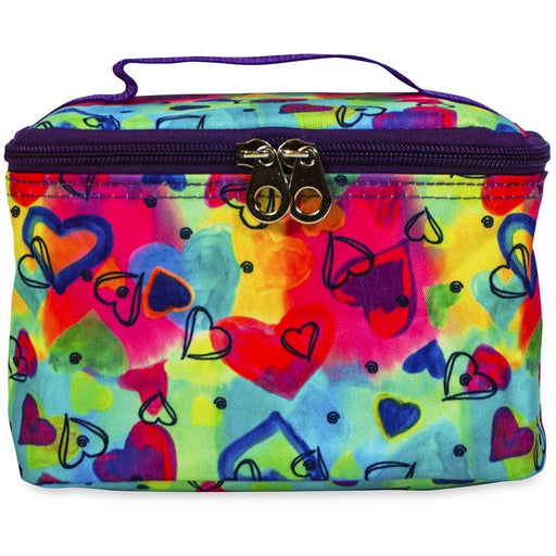 Jenzys Rainbow Hearts Cosmetic Makeup Case - jenzys.com
