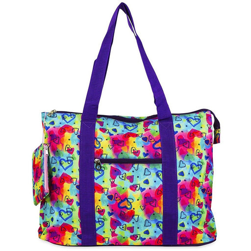 Jenzys Rainbow Hearts Shopping Tote Bag - jenzys.com