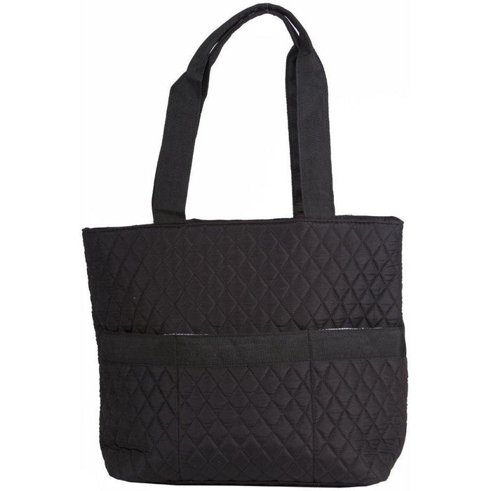 NGil Solid Black Quilted Diaper Bag - jenzys.com