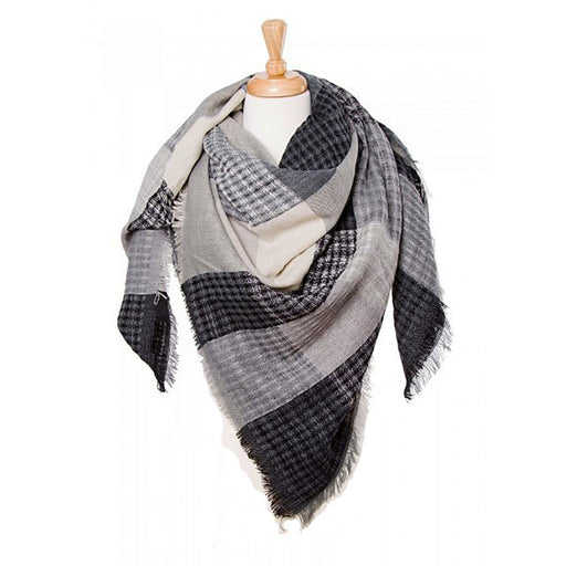 Fashion Blanket Scarf - 55 inches x 55 inches - jenzys.com