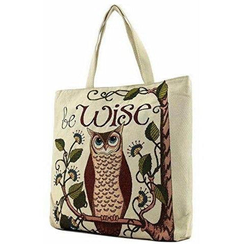 Owl Tapestry Tote Bag - jenzys.com