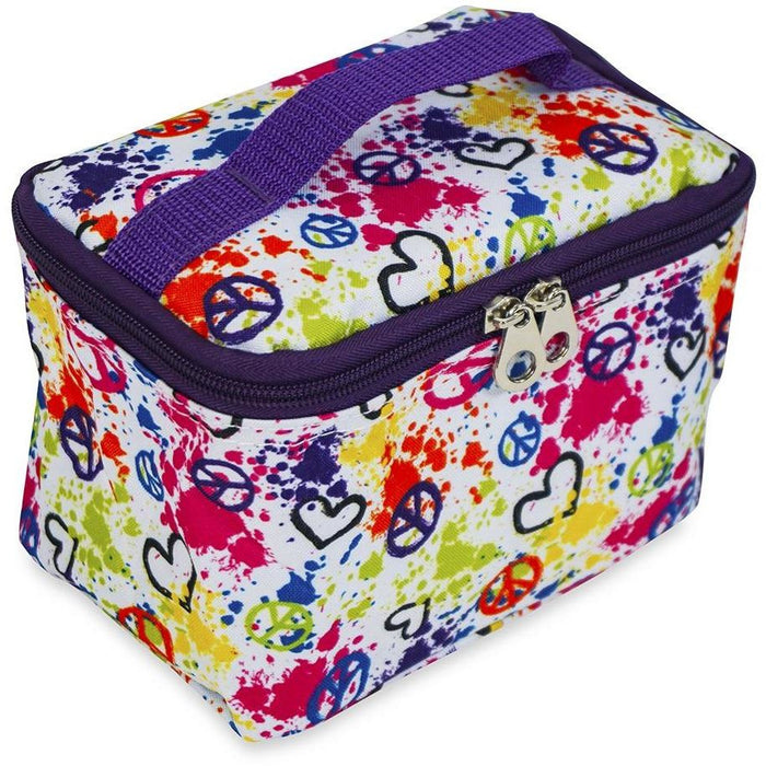 Jenzys Peace and Love Cosmetic Makeup Case - jenzys.com