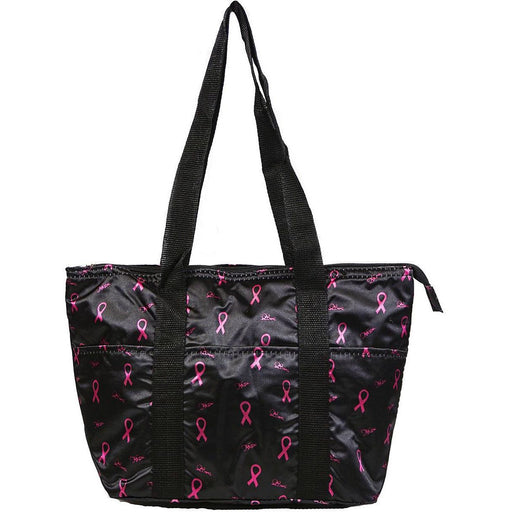 Pink Ribbon Breast Cancer Reusable Lunch Tote Bag Insulated Thermal for Womens