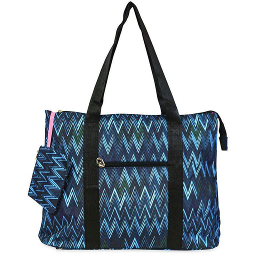 Jenzys Chevron Travel Tote Bag - jenzys.com