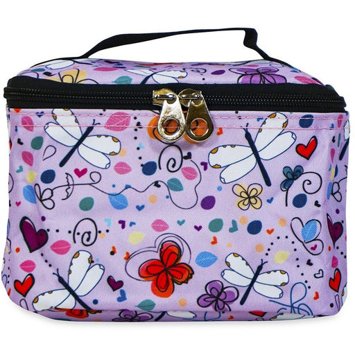 Jenzys Butterflies and Dragonflies Cosmetic Makeup Case - jenzys.com