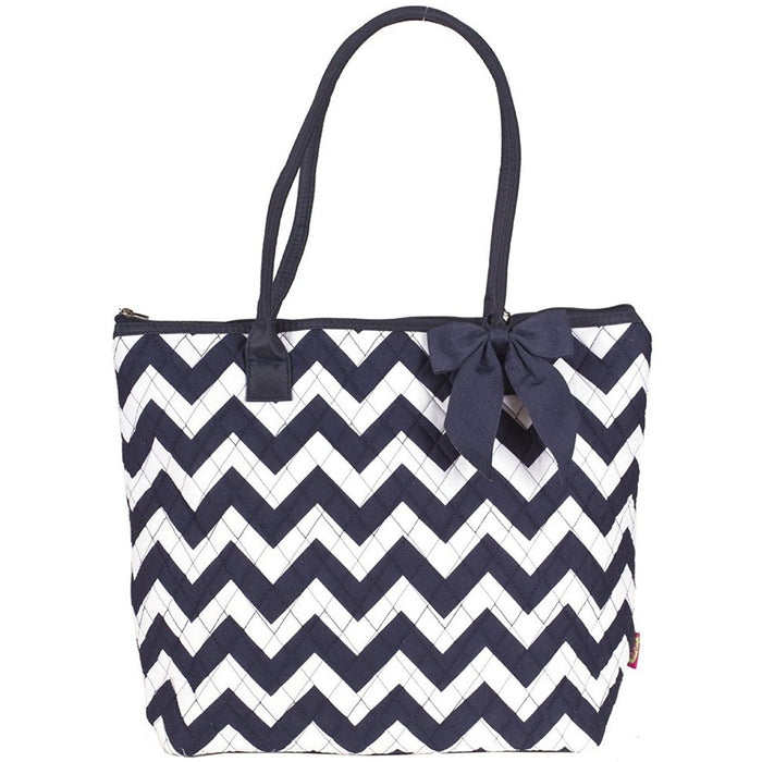 Chevron Quilted Tote Bag - jenzys.com
