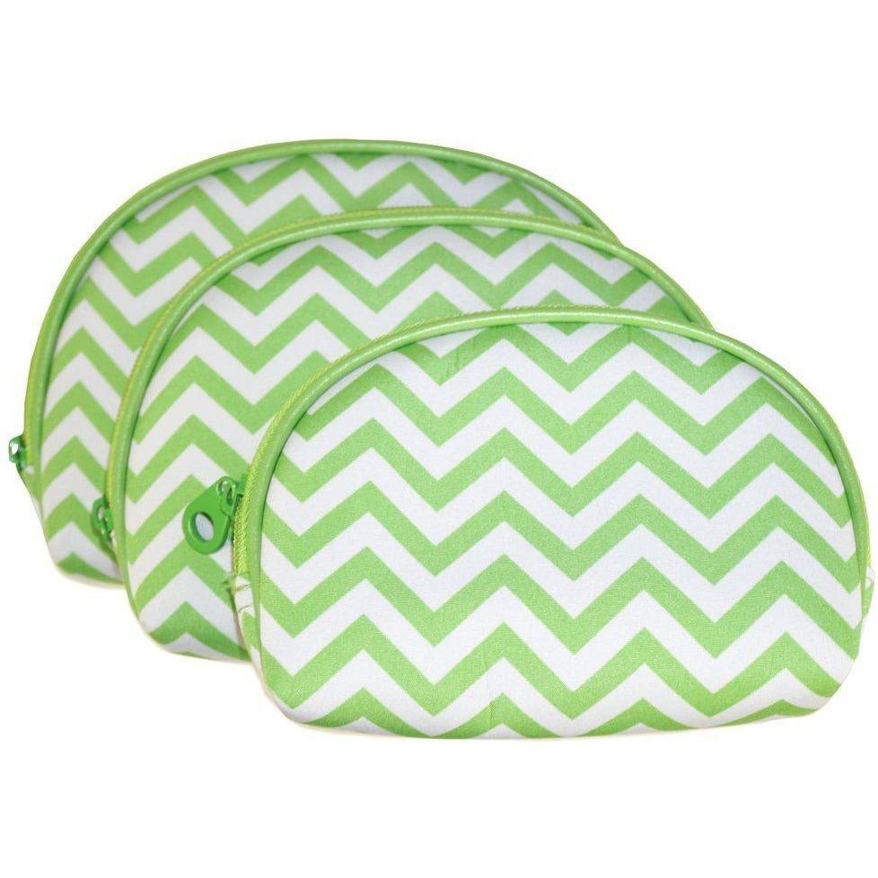 Chevron 3 Piece Cosmetic Bag Set - jenzys.com
