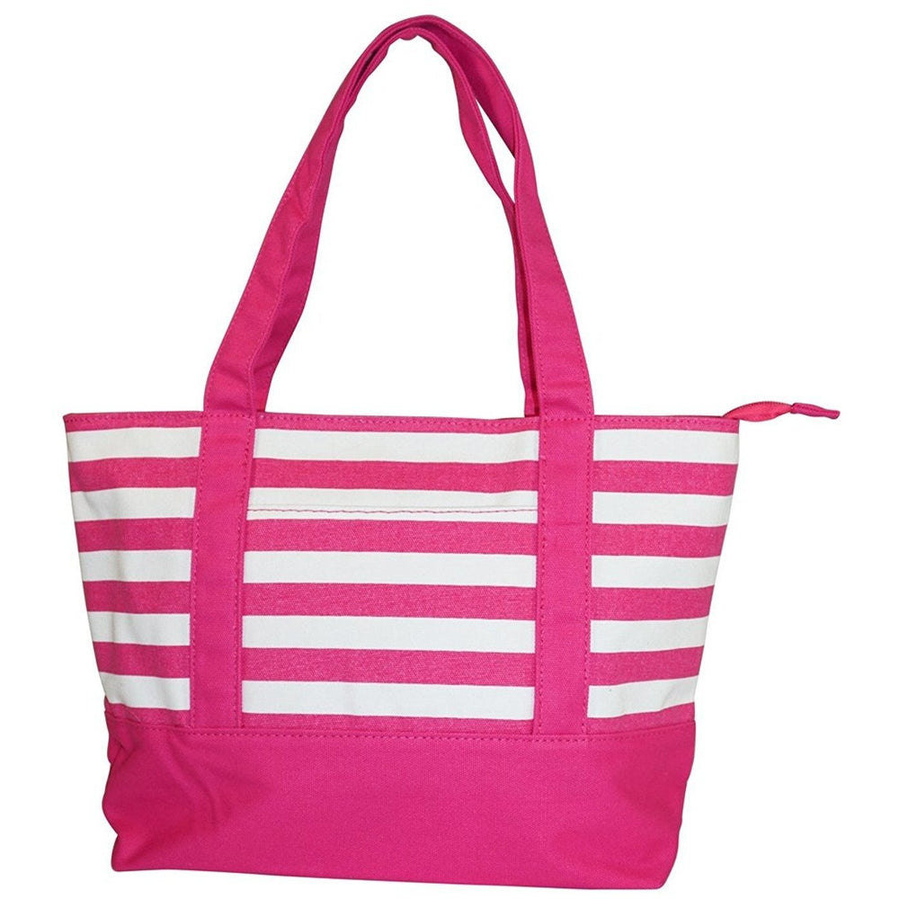 Ever Moda Striped Tote Bag - jenzys.com
