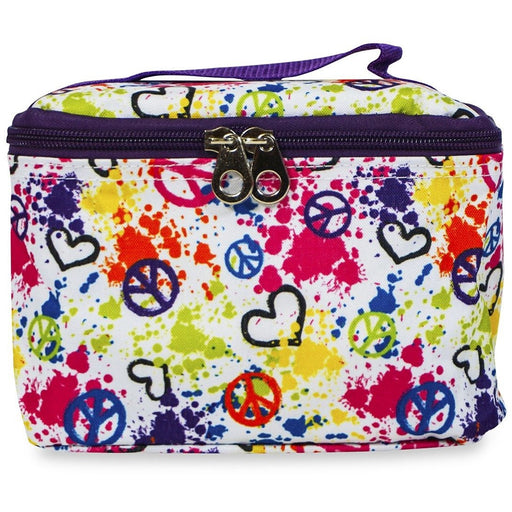 Jenzys Peace and Love Cosmetic Makeup Case