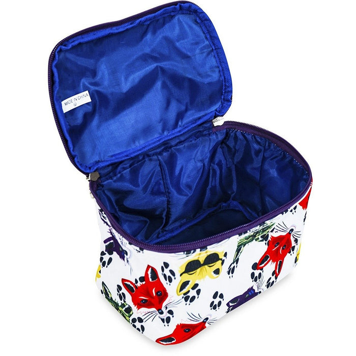 Jenzys Foxy Faces Cosmetic Makeup Case - jenzys.com