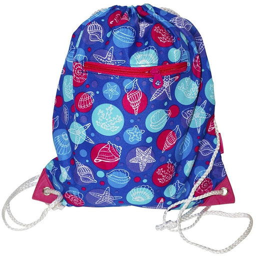 Ever Moda Seashells Drawstring Backpack - jenzys.com