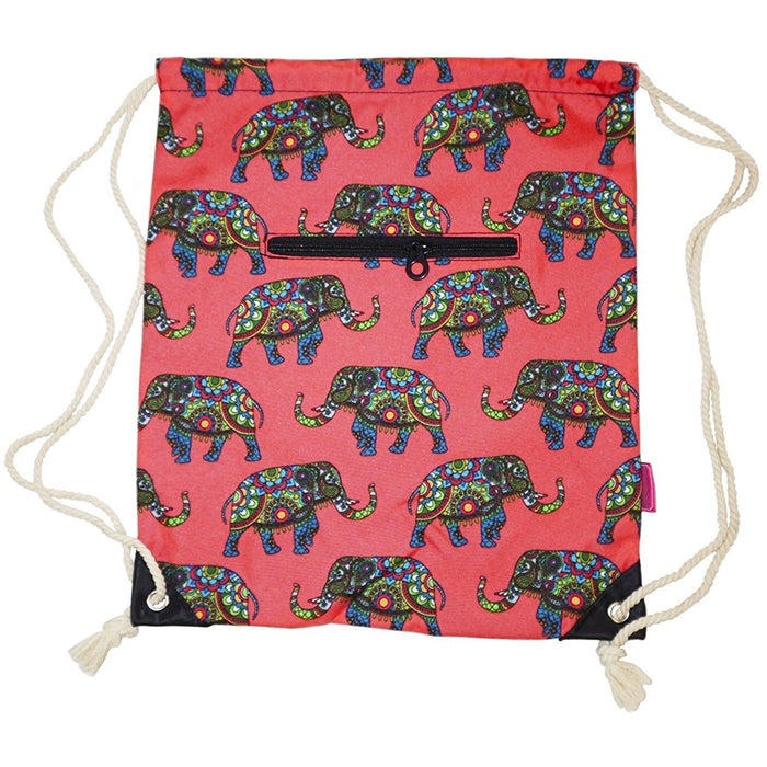 Ever Moda Elephant Drawstring Backpack - jenzys.com