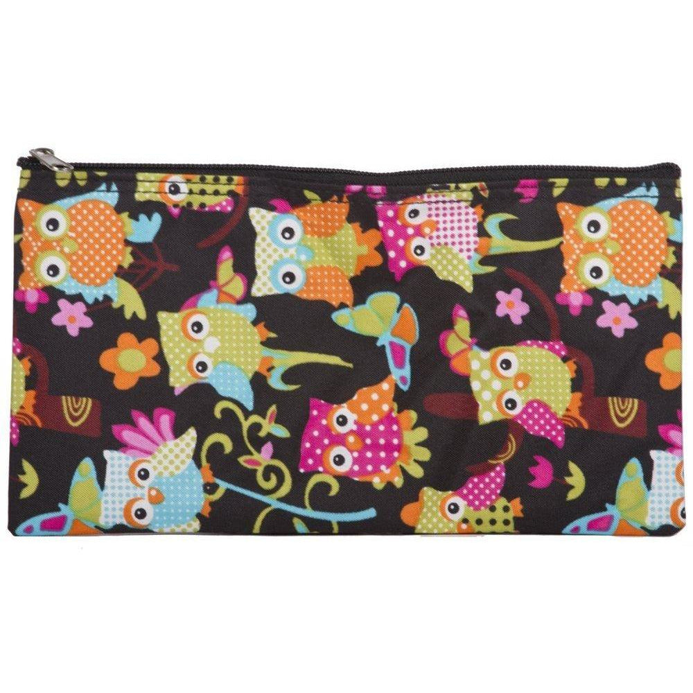 Owl Print Makeup Pencil Bag - jenzys.com