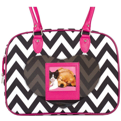 J Garden Chevron Pet Carrier Purse - jenzys.com