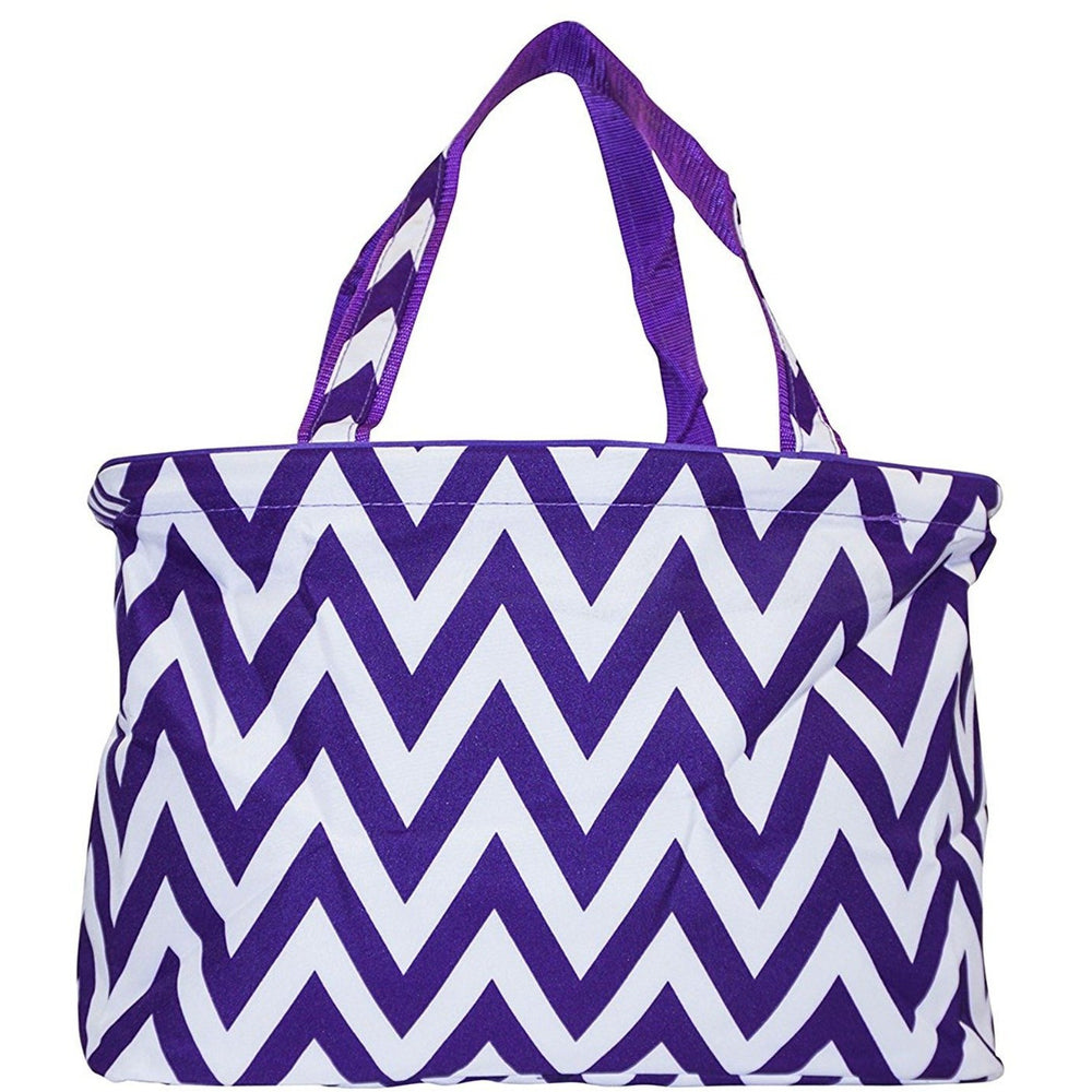 Ever Moda Chevron Beach Tote Bag - jenzys.com