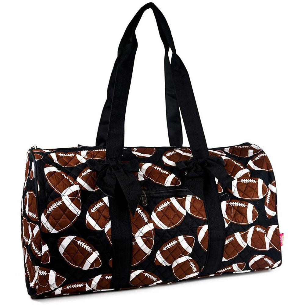 NGIL Football Travel Quilted Duffel Bag - jenzys.com