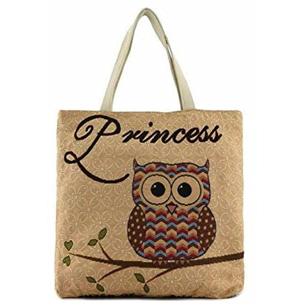 Owl Tapestry Princess Tote Bag - jenzys.com