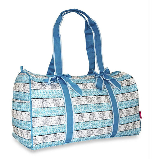 Ever Moda Elephant Quilted Duffel Bag - jenzys.com