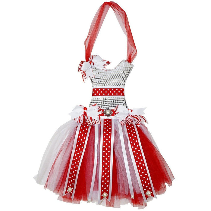 Red and White Tutu Dress Hair Bow Holder - jenzys.com