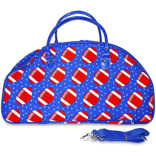 Ever Moda Football Print Rolling Duffel Bag - jenzys.com
