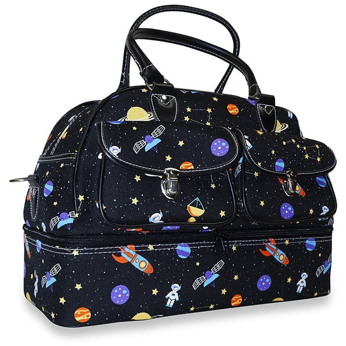 Ever Moda Galaxy Drop Bottom Duffel Bag - jenzys.com