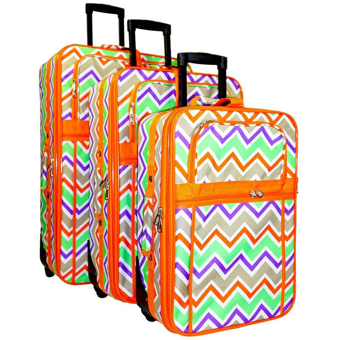Chevron Luggage Set - jenzys.com