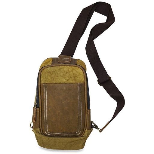 Leather Sling Backpack