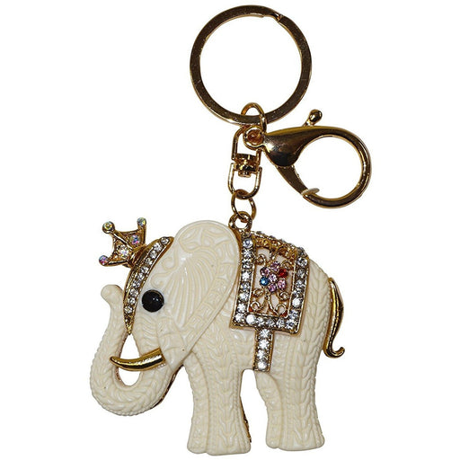 Crown Elephant Keychain