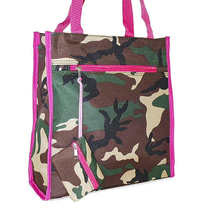 Ever Moda Camo Tote Bag