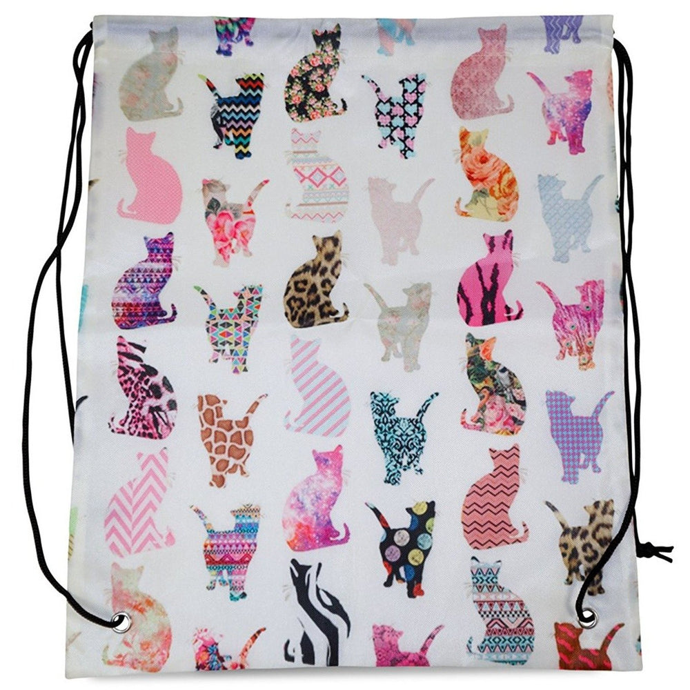 Cat Drawstring Backpack - jenzys.com