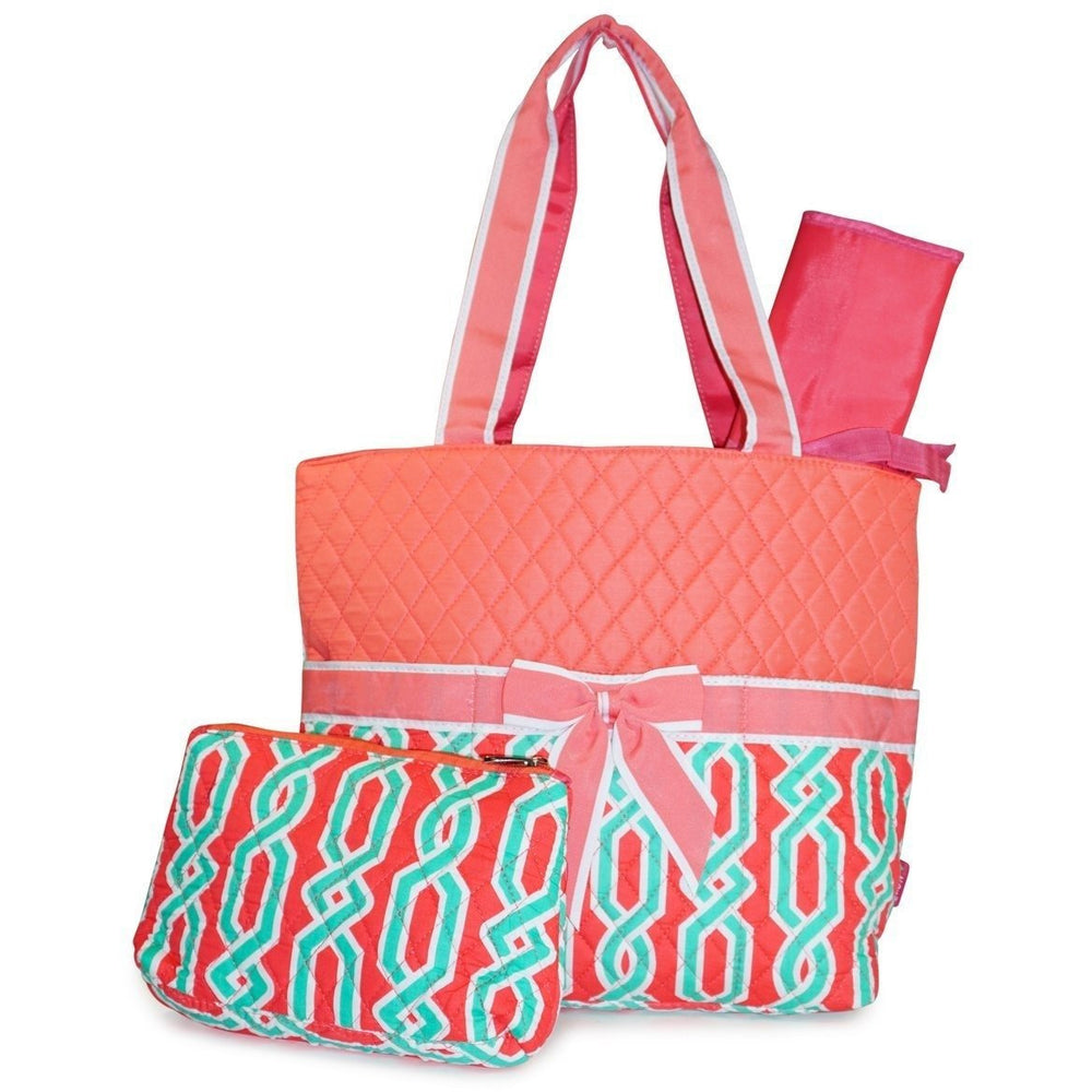 NGIL Chain Print Quilted Diaper Bag