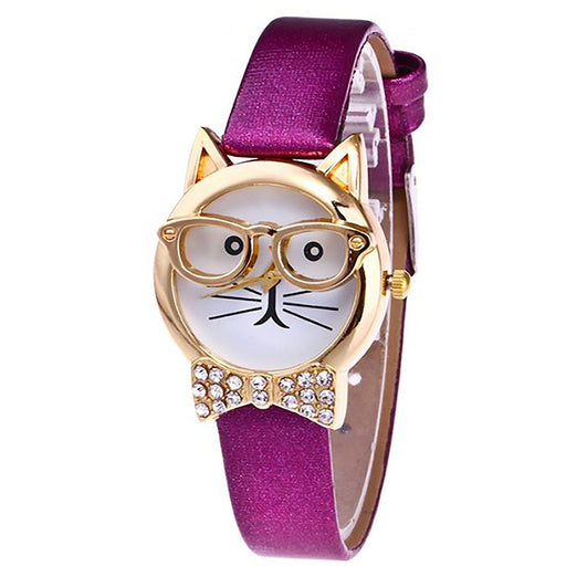 Cat Watch With Glasses - jenzys.com