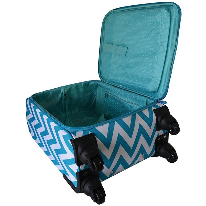 Ever Moda Chevron 360 Spinner Carry On - jenzys.com