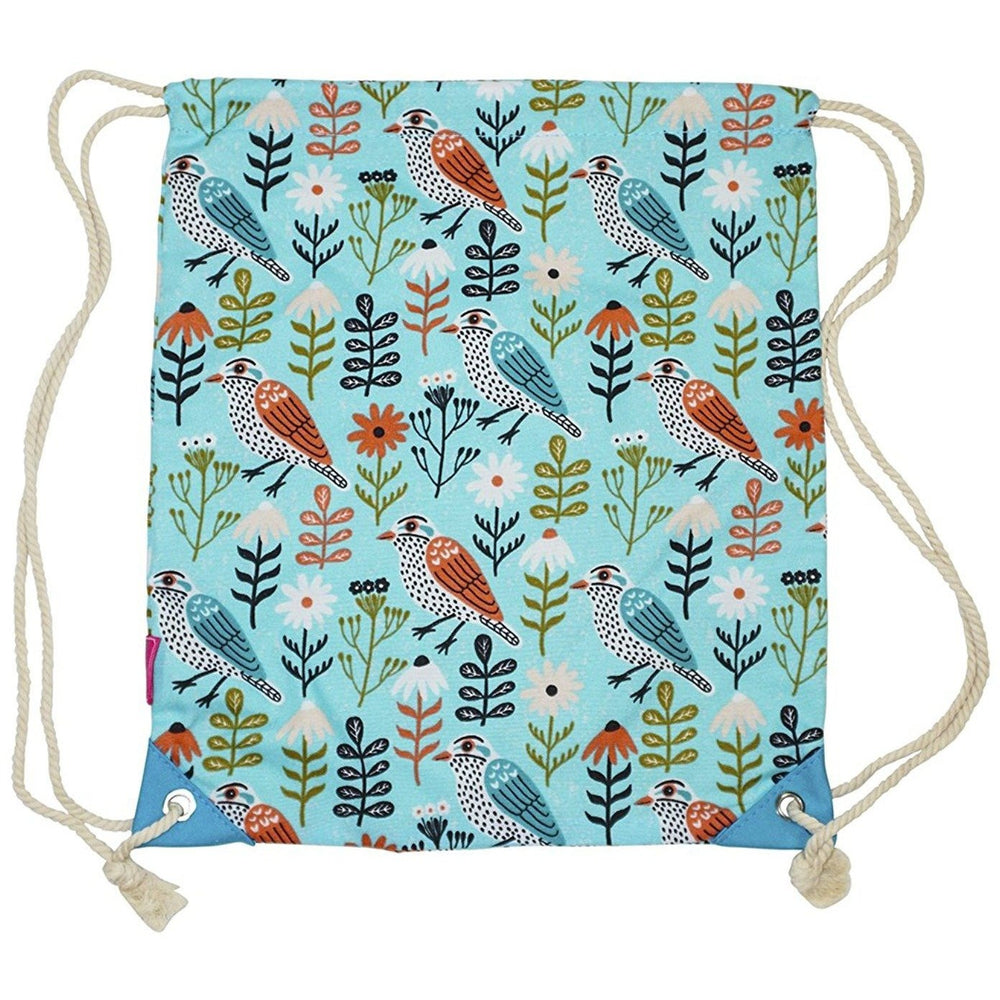 Ever Moda Bird Drawstring Backpack - jenzys.com
