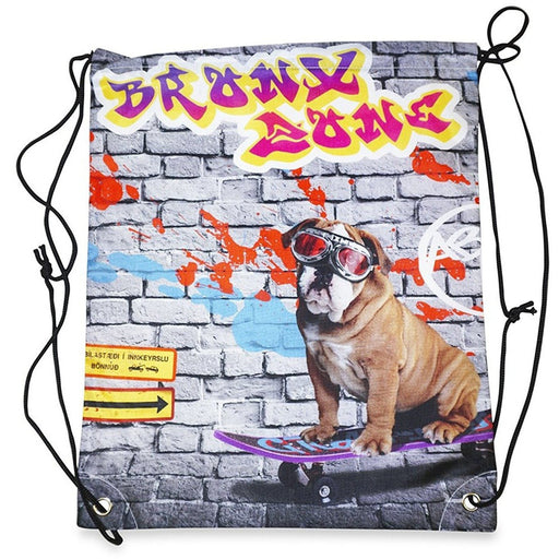 Bull Dog Drawstring Backpack - jenzys.com