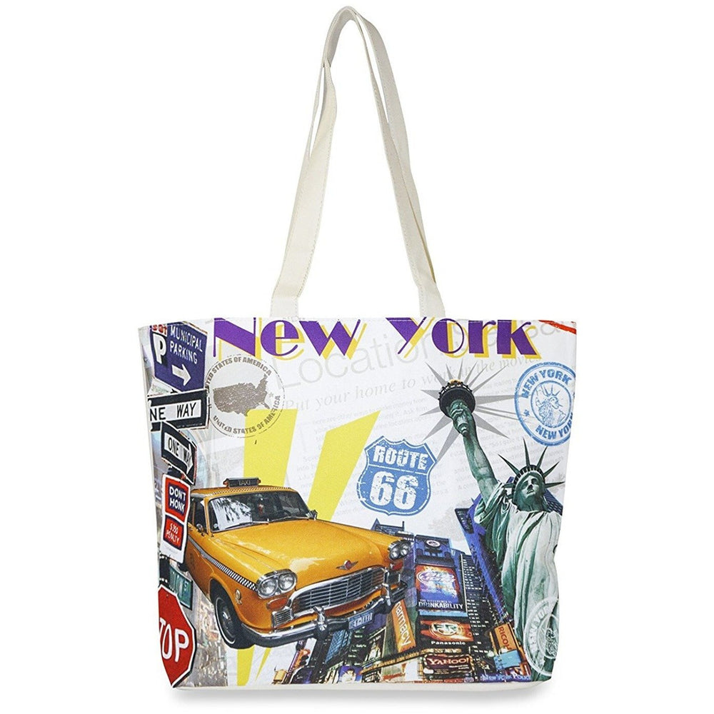 New York Route 66 Print Tote Bag - jenzys.com