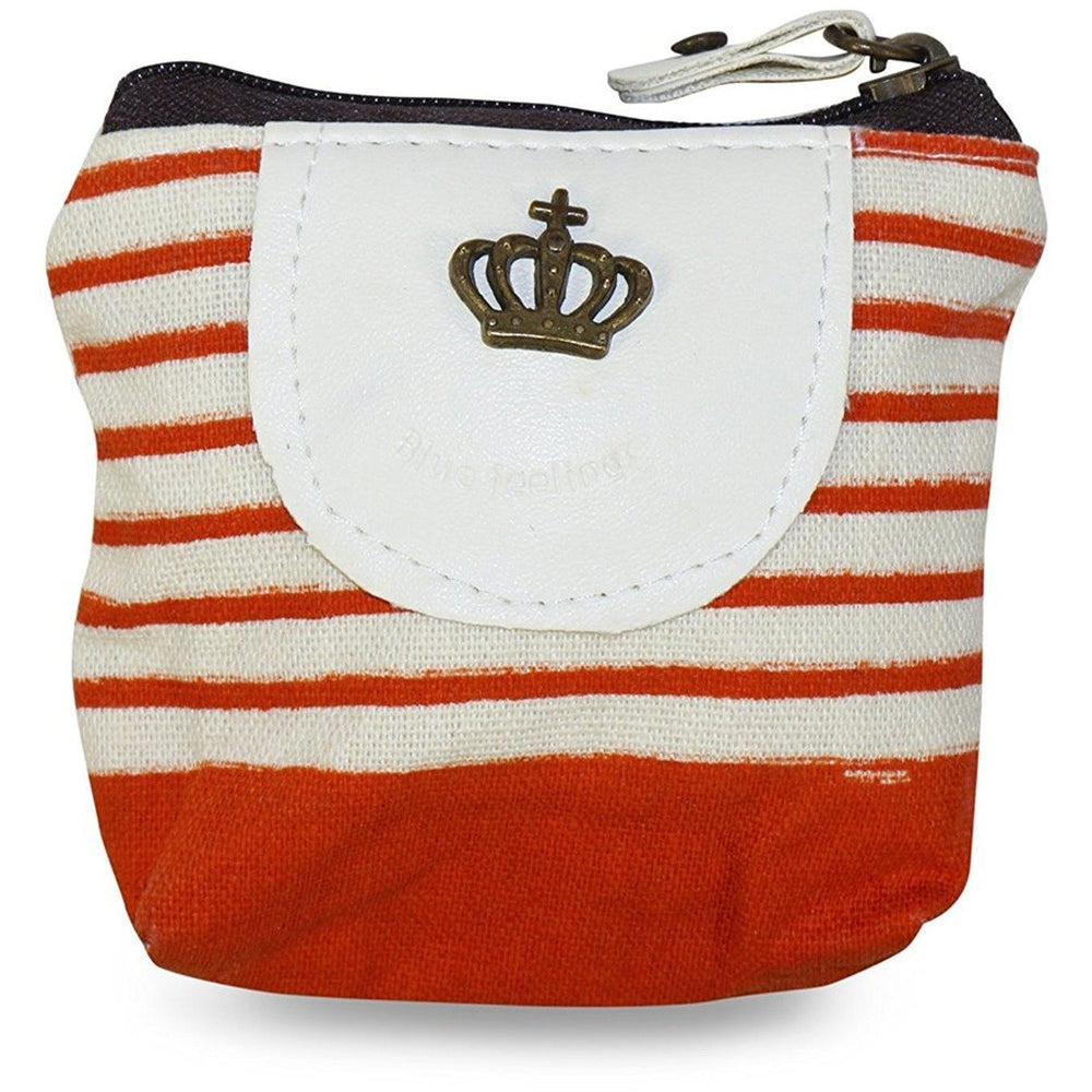 Crown Stripe Coin Purse - jenzys.com